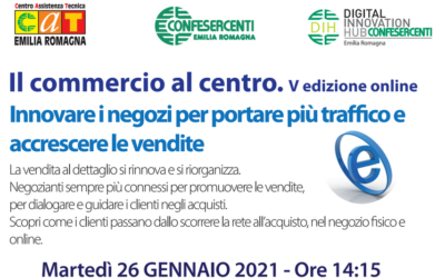 """5^ edizione online """"Il Commercio al centro"""" 26 gennaio"""