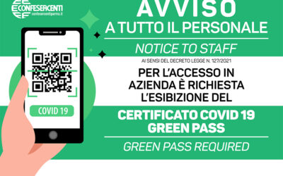 Green pass: tutti gli adempimenti in vigore dal 15 ottobre per i datori di lavoro