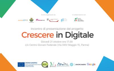 Crescere in Digitale: un progetto per l'occupazione rivolto ai giovani e alle imprese. Presentazione il 21 ottobre